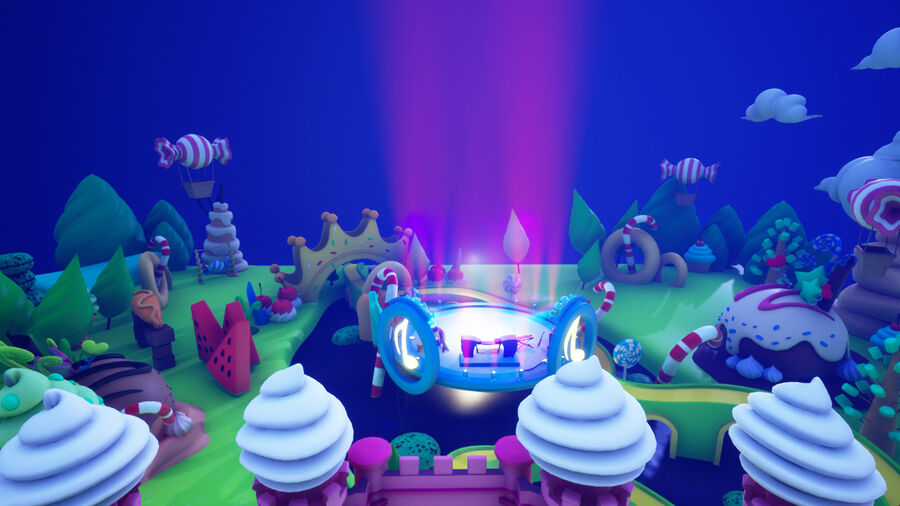 Asset UE4 - Cartoons - Background - Stage- Hight Poly 3D model royalty-free 3d model - Preview no. 1