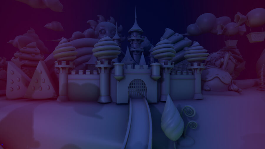 Asset UE4 - Cartoons - Background - Stage- Hight Poly 3D model royalty-free 3d model - Preview no. 8