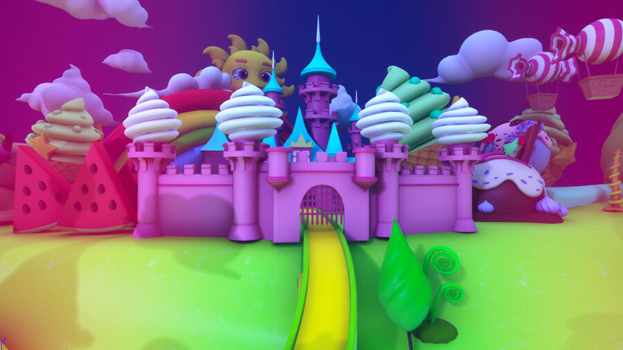 Asset UE4 - Cartoons - Background - Stage- Hight Poly 3D model royalty-free 3d model - Preview no. 19