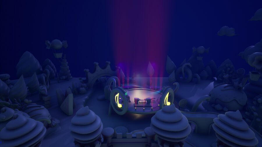 Asset UE4 - Cartoons - Background - Stage- Hight Poly 3D model royalty-free 3d model - Preview no. 9