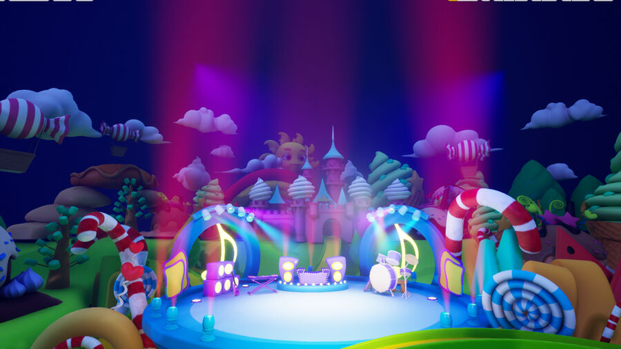 Asset UE4 - Cartoons - Background - Stage- Hight Poly 3D model royalty-free 3d model - Preview no. 17