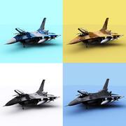 Múltiples F-16 modelo 3d