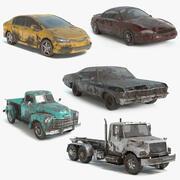 Sammlung verlassener Fahrzeuge 3d model