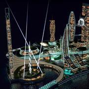 Nocne miasto przyszłości 3d model