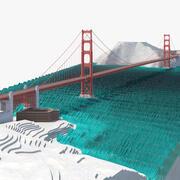 Golden Gate Bridge Environment 3d model