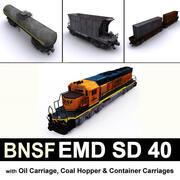 EMD SD 40 BNSF 3d model