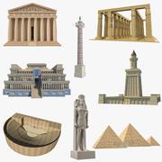Colección de monumentos antiguos modelo 3D modelo 3d