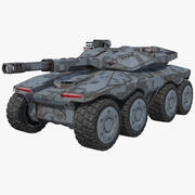 Sci-Fi-Tank-APC-Konzept (1) 3d model