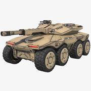 Sci-Fi Tank APC Wüstenkonzept 3d model
