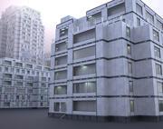 Futurystyczne budynki (zestaw) 3d model