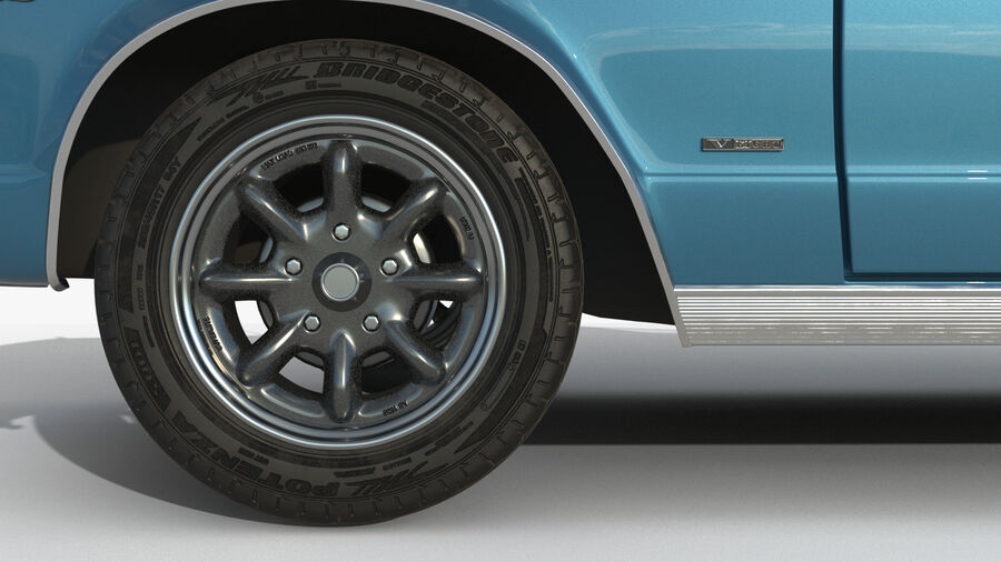 Plymouth Barracuda 1966 royalty-free 3d model - Preview no. 7
