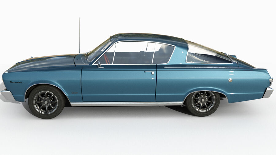 Plymouth Barracuda 1966 royalty-free 3d model - Preview no. 2