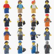 Lego Minifiguren Collectie 3d model