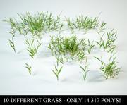 gras ingesteld 3d model