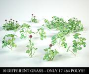 clover set  trifolium 3d model