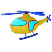Śmigłowiec kreskówka 3d model