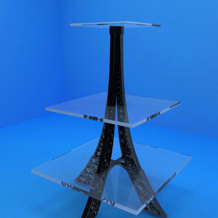 Стол Эйфелевой башни royalty-free 3d model - Preview no. 3