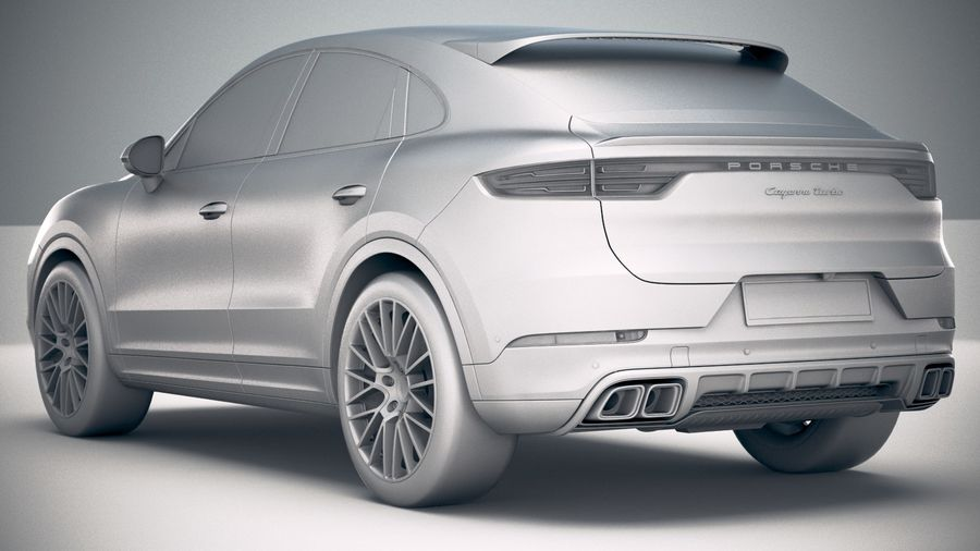 Porsche Cayenne Turbo Coupe 2020 royalty-free 3d model - Preview no. 29