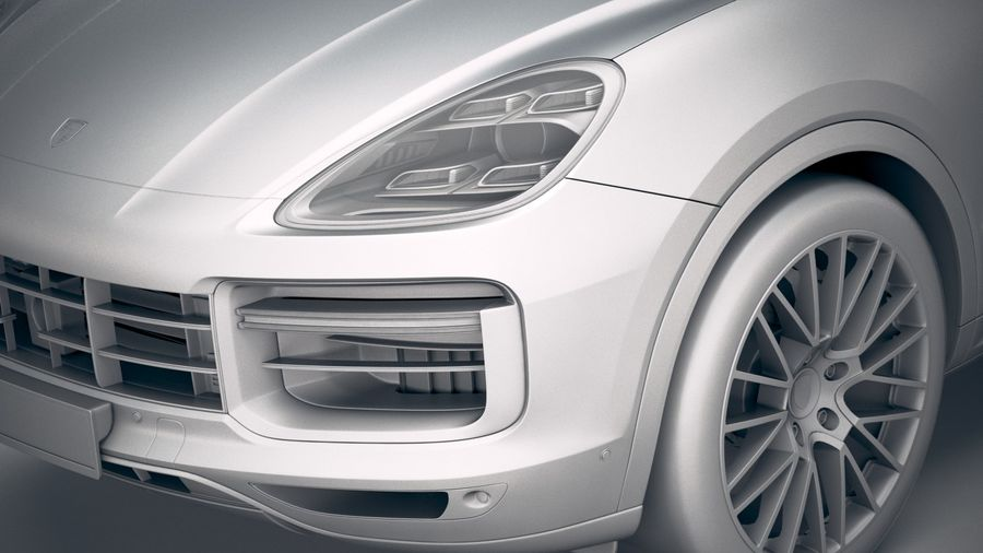 Porsche Cayenne Turbo Coupe 2020 royalty-free 3d model - Preview no. 24