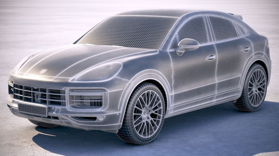 Porsche Cayenne Turbo Coupe 2020 royalty-free 3d model - Preview no. 30