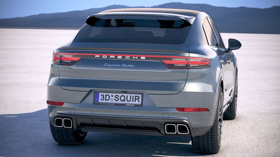 Porsche Cayenne Turbo Coupe 2020 royalty-free 3d model - Preview no. 6
