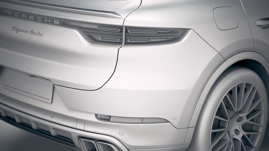 Porsche Cayenne Turbo Coupe 2020 royalty-free 3d model - Preview no. 25