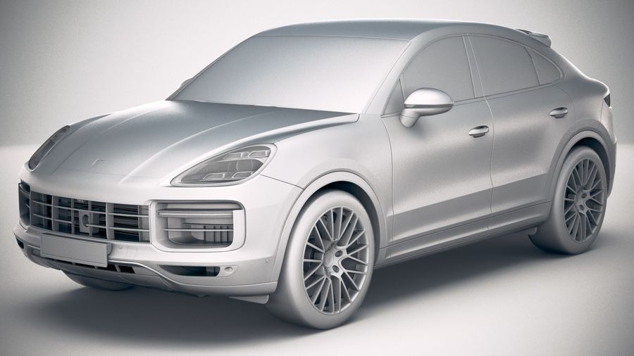 Porsche Cayenne Turbo Coupe 2020 royalty-free 3d model - Preview no. 23