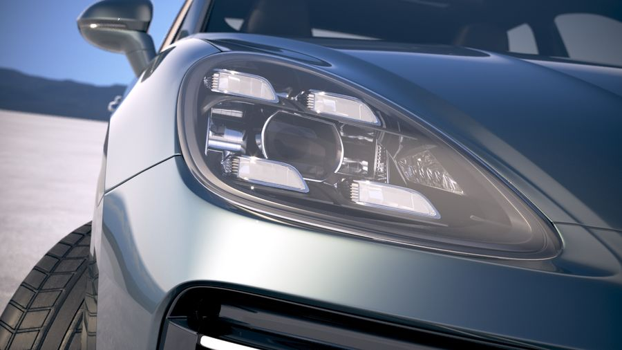 Porsche Cayenne Turbo Coupe 2020 royalty-free 3d model - Preview no. 22