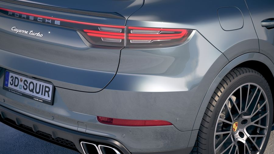 Porsche Cayenne Turbo Coupe 2020 royalty-free 3d model - Preview no. 4