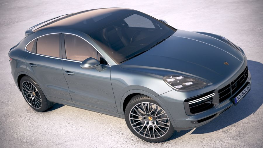 Porsche Cayenne Turbo Coupe 2020 royalty-free 3d model - Preview no. 18