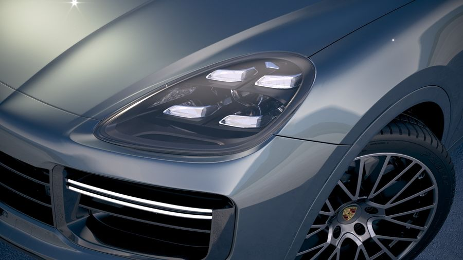 Porsche Cayenne Turbo Coupe 2020 royalty-free 3d model - Preview no. 21
