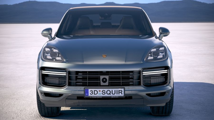 Porsche Cayenne Turbo Coupe 2020 royalty-free 3d model - Preview no. 10