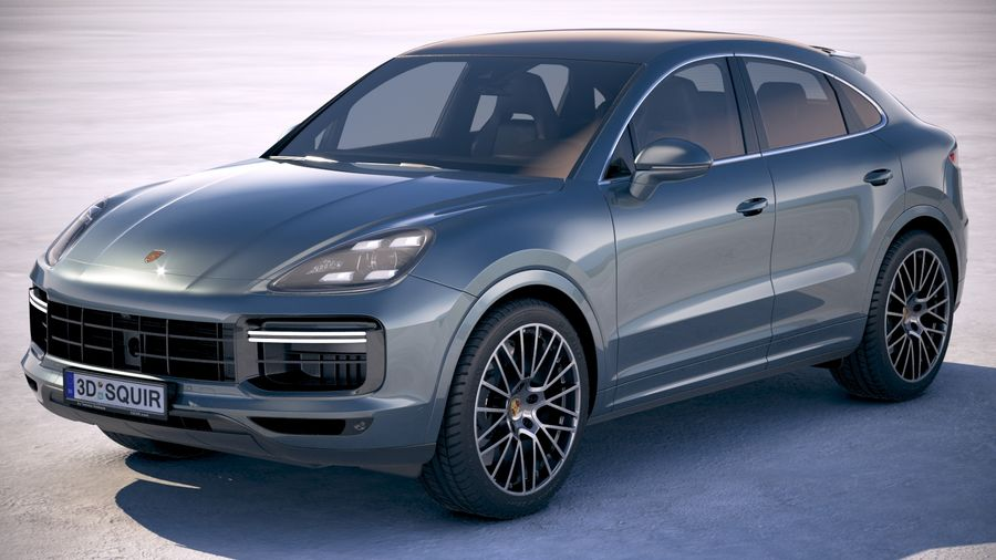 Porsche Cayenne Turbo Coupe 2020 royalty-free 3d model - Preview no. 1
