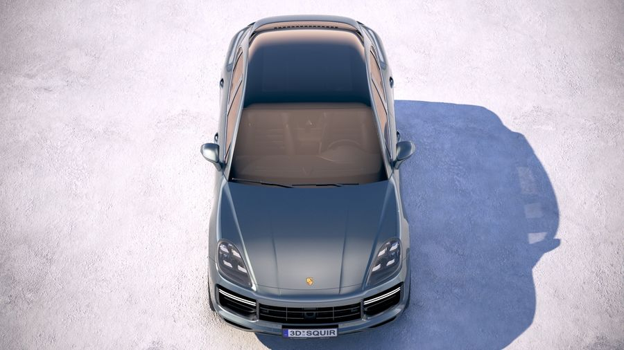 Porsche Cayenne Turbo Coupe 2020 royalty-free 3d model - Preview no. 9