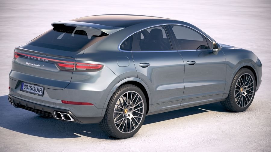 Porsche Cayenne Turbo Coupe 2020 royalty-free 3d model - Preview no. 5