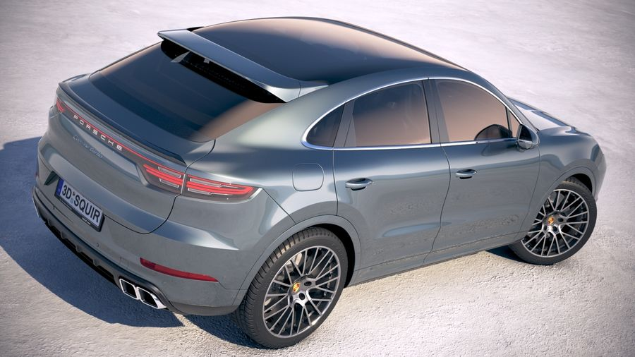 Porsche Cayenne Turbo Coupe 2020 royalty-free 3d model - Preview no. 19