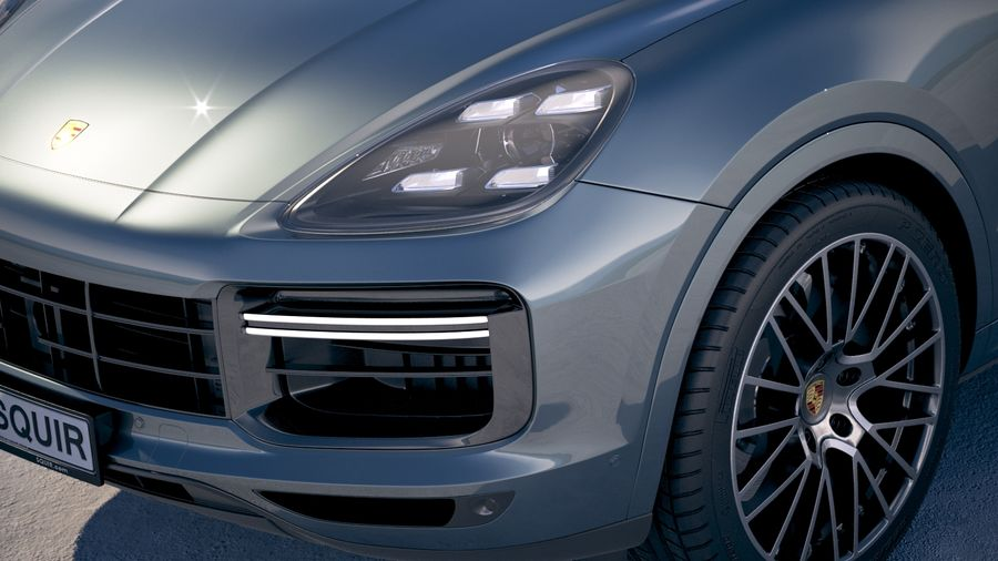 Porsche Cayenne Turbo Coupe 2020 royalty-free 3d model - Preview no. 3