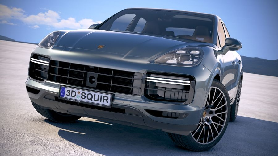 Porsche Cayenne Turbo Coupe 2020 royalty-free 3d model - Preview no. 20
