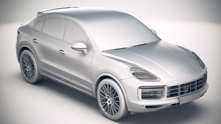 Porsche Cayenne Turbo Coupe 2020 royalty-free 3d model - Preview no. 27