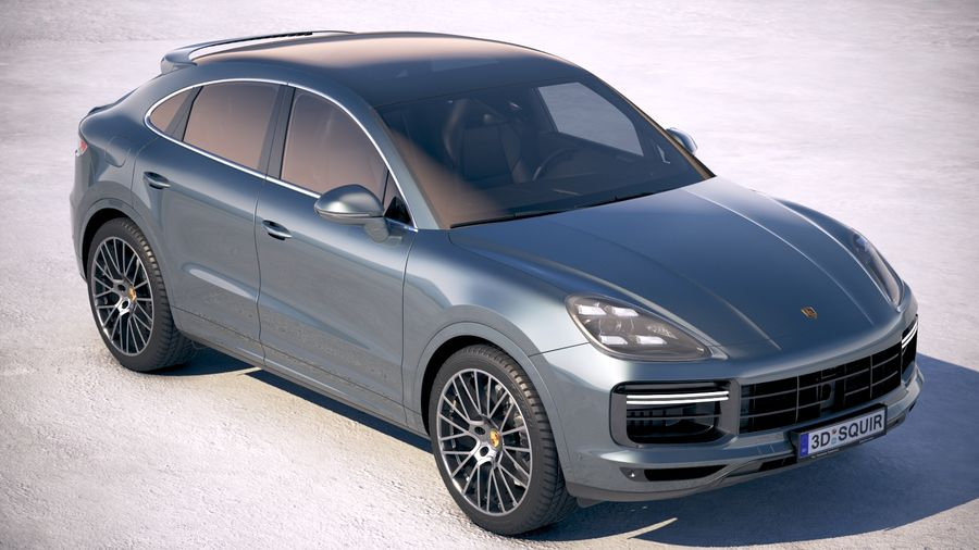 Porsche Cayenne Turbo Coupe 2020 royalty-free 3d model - Preview no. 12