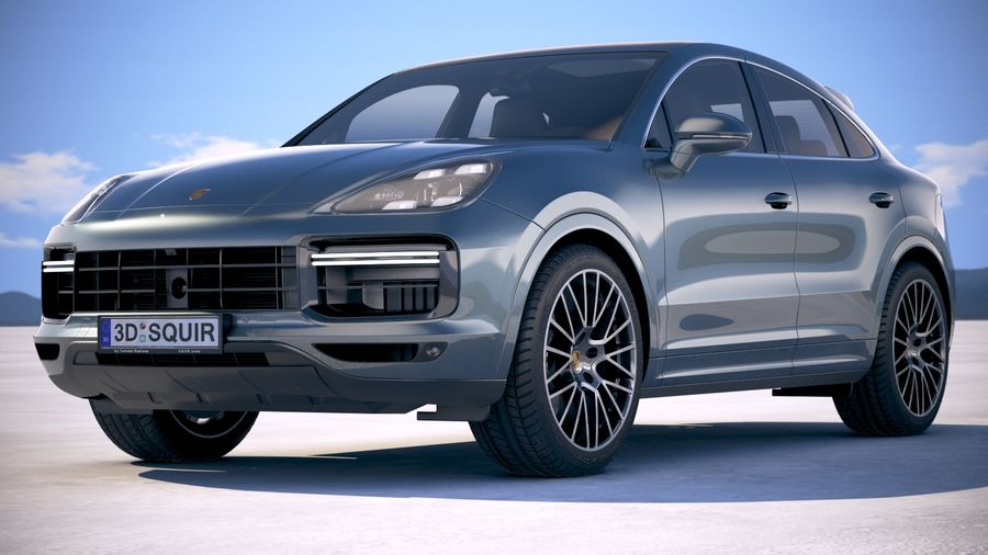 Porsche Cayenne Turbo Coupe 2020 royalty-free 3d model - Preview no. 13