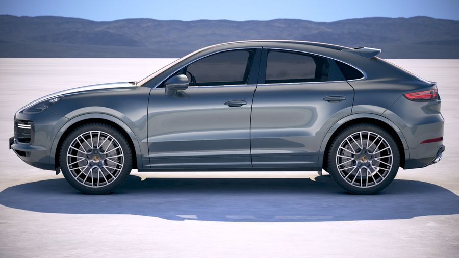Porsche Cayenne Turbo Coupe 2020 royalty-free 3d model - Preview no. 7