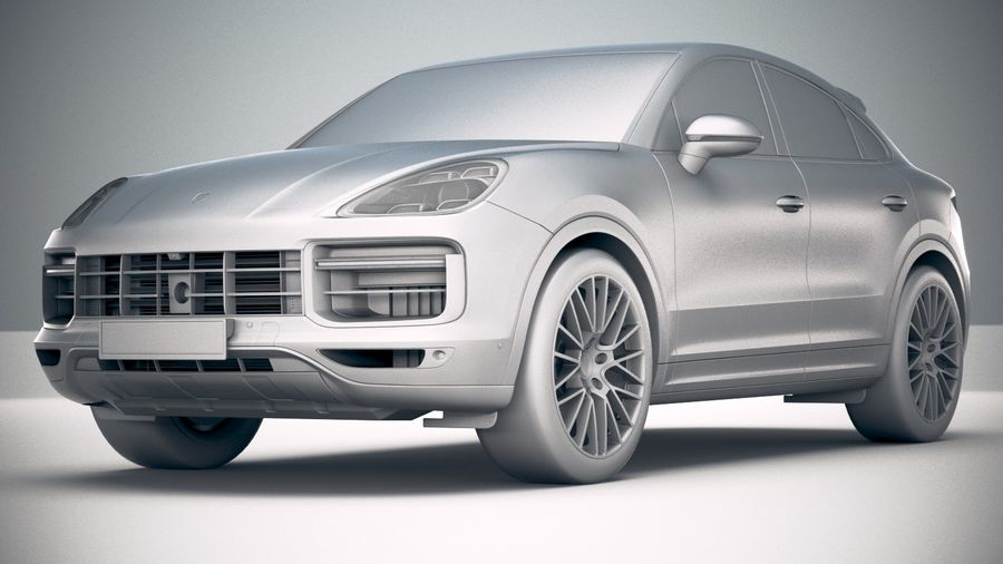 Porsche Cayenne Turbo Coupe 2020 royalty-free 3d model - Preview no. 28