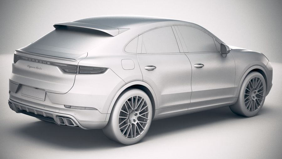 Porsche Cayenne Turbo Coupe 2020 royalty-free 3d model - Preview no. 26
