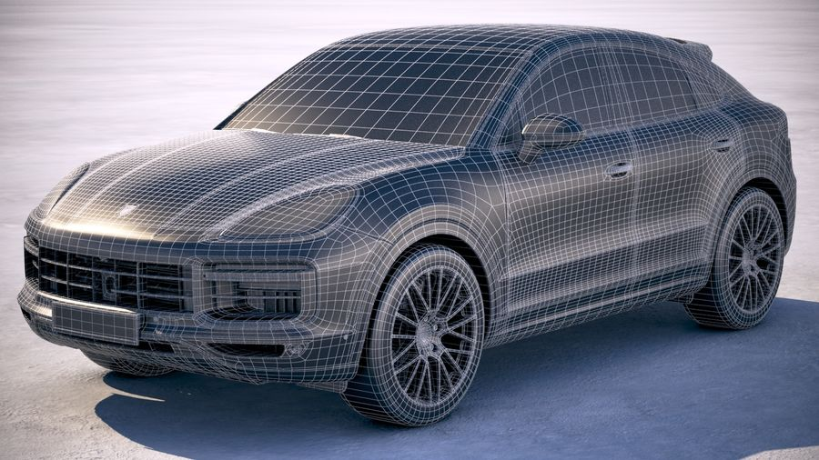 Porsche Cayenne Turbo Coupe 2020 royalty-free 3d model - Preview no. 32
