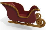 サンタのそり 3d model