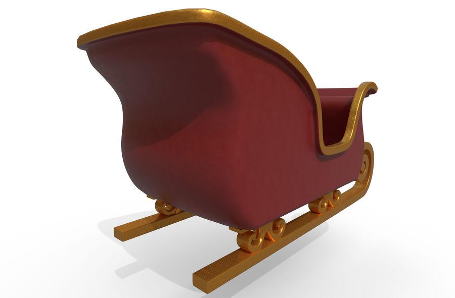 サンタのそり royalty-free 3d model - Preview no. 10