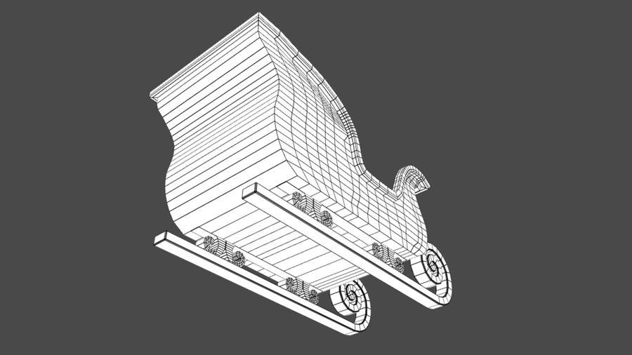 サンタのそり royalty-free 3d model - Preview no. 9