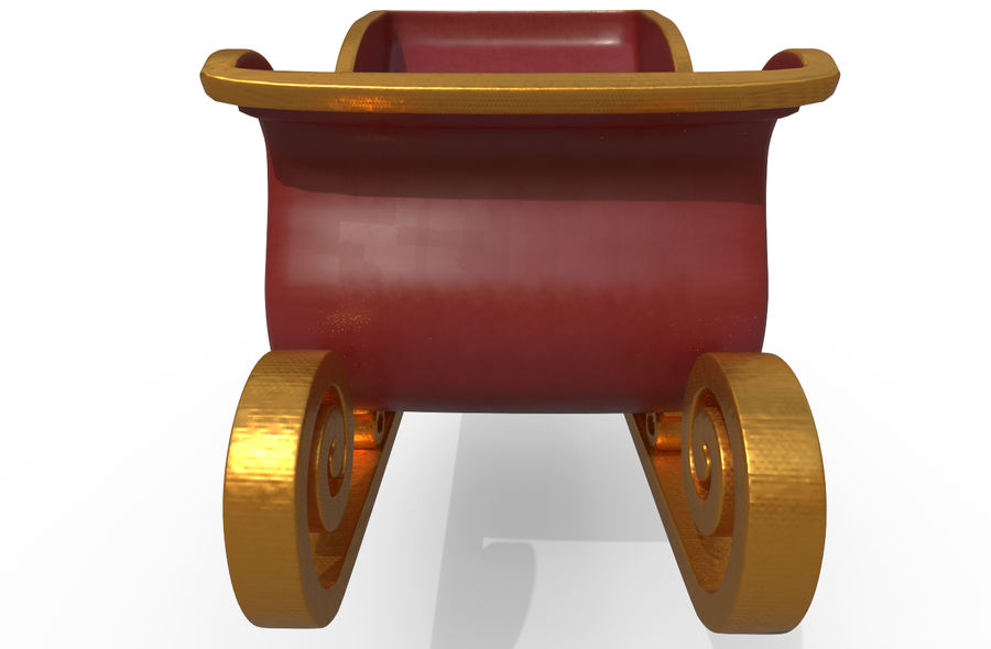 サンタのそり royalty-free 3d model - Preview no. 12