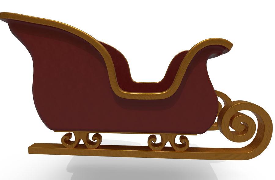 サンタのそり royalty-free 3d model - Preview no. 3